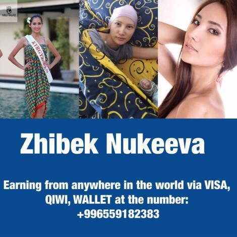 Miss Kyrgyzstan 2013, Zhibek Nukeeva NEEDS HELP!