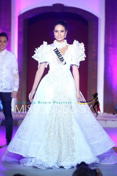 Miss Thailand-Chalita Suansane during terno fashion show