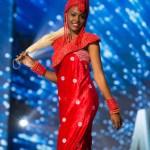 Miss Nigeria,Unoaku Anyadike during Miss Universe 2016 National Costume presentation