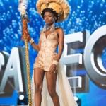 Miss Sierra Leone ,Hawa Kamara during Miss Universe 2016 National Costume presentation