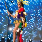 Miss South Africa ,,Ntandoyenkosi Kunene during Miss Universe 2016 National Costume presentation