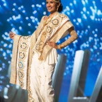 Miss Sri Lanka , Jayathi De Silva during Miss Universe 2016 National Costume presentation