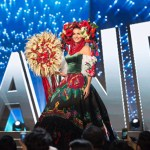 Miss Ukraine,Alena Spodynyuk during Miss Universe 2016 National Costume presentation