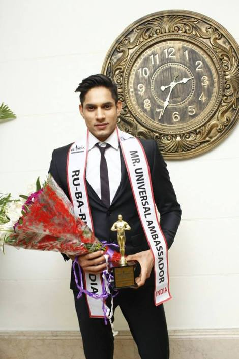 Rohit Jakhar from Haryana is Rubaru Mister India Universal Ambassador 2017
