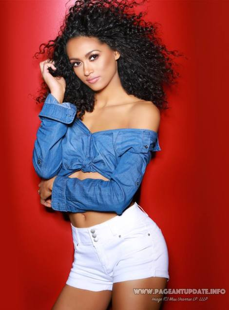 Miss District of Columbia, Kára McCullough during official photo for Miss USA 2017 pageant