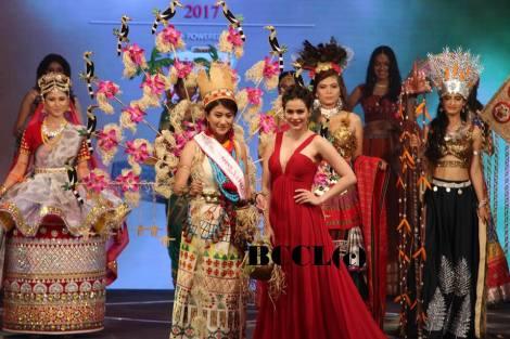 Best in National Costume: Licha Thossum, Arunachal Pradesh
