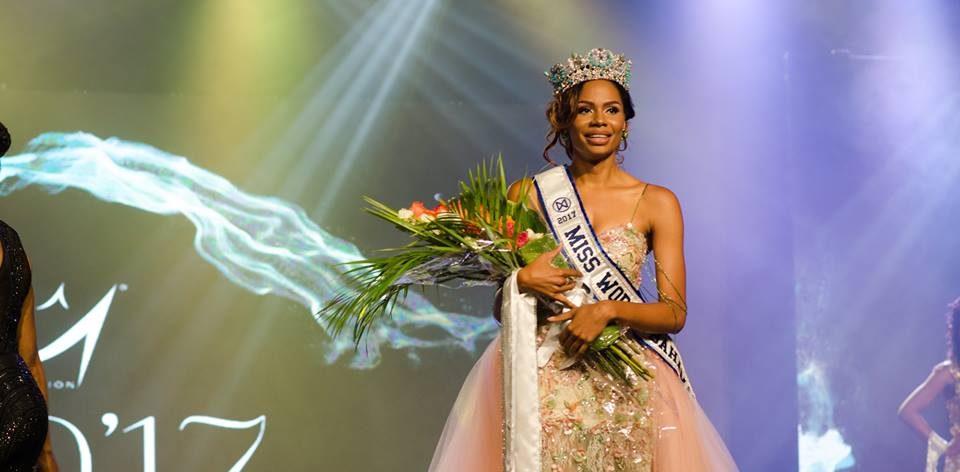 Geena Thompson wins Miss World Bahamas 2017