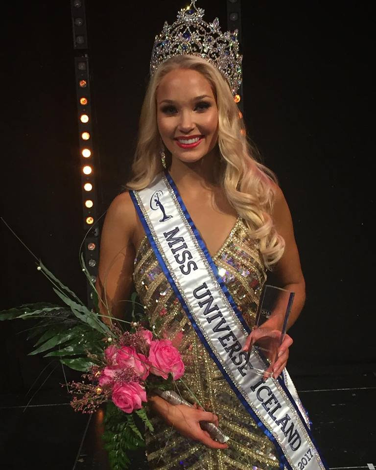 Arna Yr Jonsdottir crowned as Miss Universe Iceland 2017