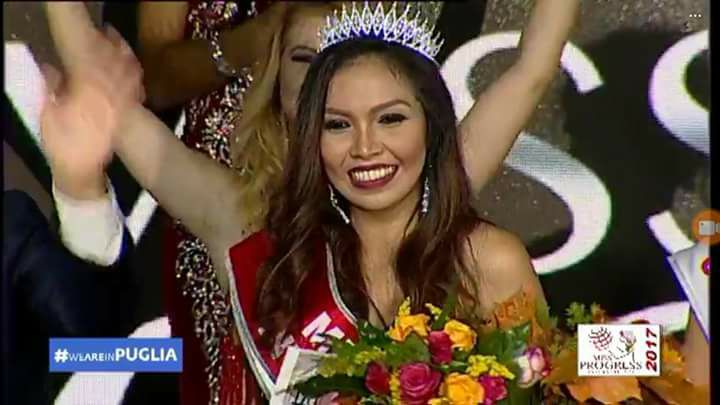 Mary Grace Jedaver from Philippines crowned Miss Progress International 2017