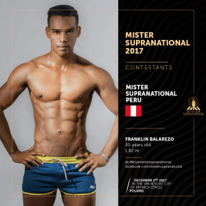 Mister Supranational 2017 Contestants