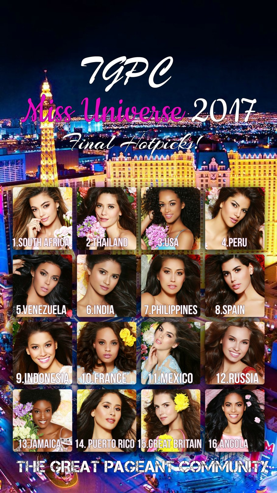 Miss Universe 2017 TGPC Hotpicks