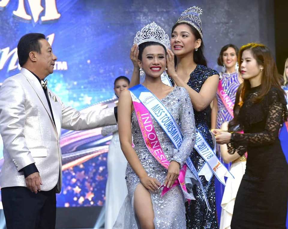 Astari Vernideani from Indonesia crowned Miss Tourism International 2018