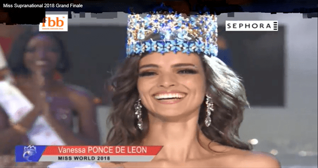 Vanessa Ponce from Mexicocrowned as Miss World 2018