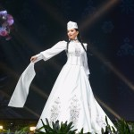 Miss Universe Armenia,Eliza Muradyan during the national costume presentation