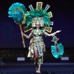 Miss Universe Belize,Jenelli Fraser during the national costume presentation