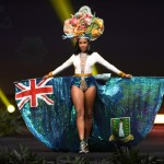 Miss Universe British Virgin Islands, A'yana Keshelle Phillips during the national costume presentation