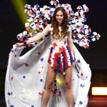 Miss Universe Czech Republic,Lea Šteflíčková during the national costume presentation