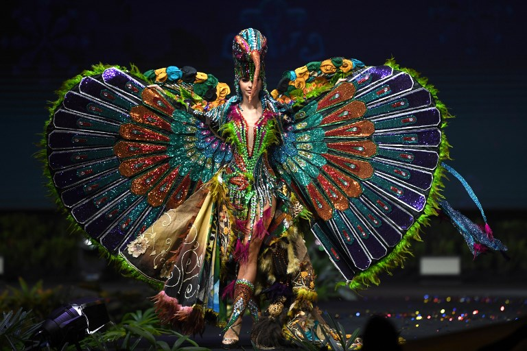 Miss Universe Ecuador,Virginia Limongi during the national costume presentation