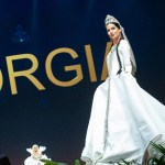 Miss Universe Georgia,Lara Yan during the national costume presentation
