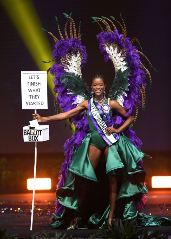 Miss Universe Great Britain,Dee-Ann Kentish-Rogers during the national costume presentation