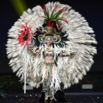 Miss Universe Guatemala,Mariana García during the national costume presentation
