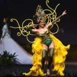 Miss Universe Jamaica,Emily Maddison during the national costume presentation