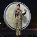 Miss Universe Myanmar-Hnin Thway Yu Aung during the national costume presentation