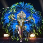 Miss Universe Panama,Rosa Montezuma during the national costume presentation