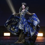 Miss Universe Russia.Yulia Polyachikhina during the national costume presentation