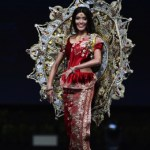 Miss Universe Sri Lanka ,Ornella Gunesekere during the national costume presentation