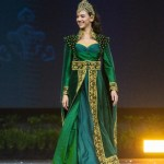 Miss Universe Turkey,Tara De Vries during the national costume presentation