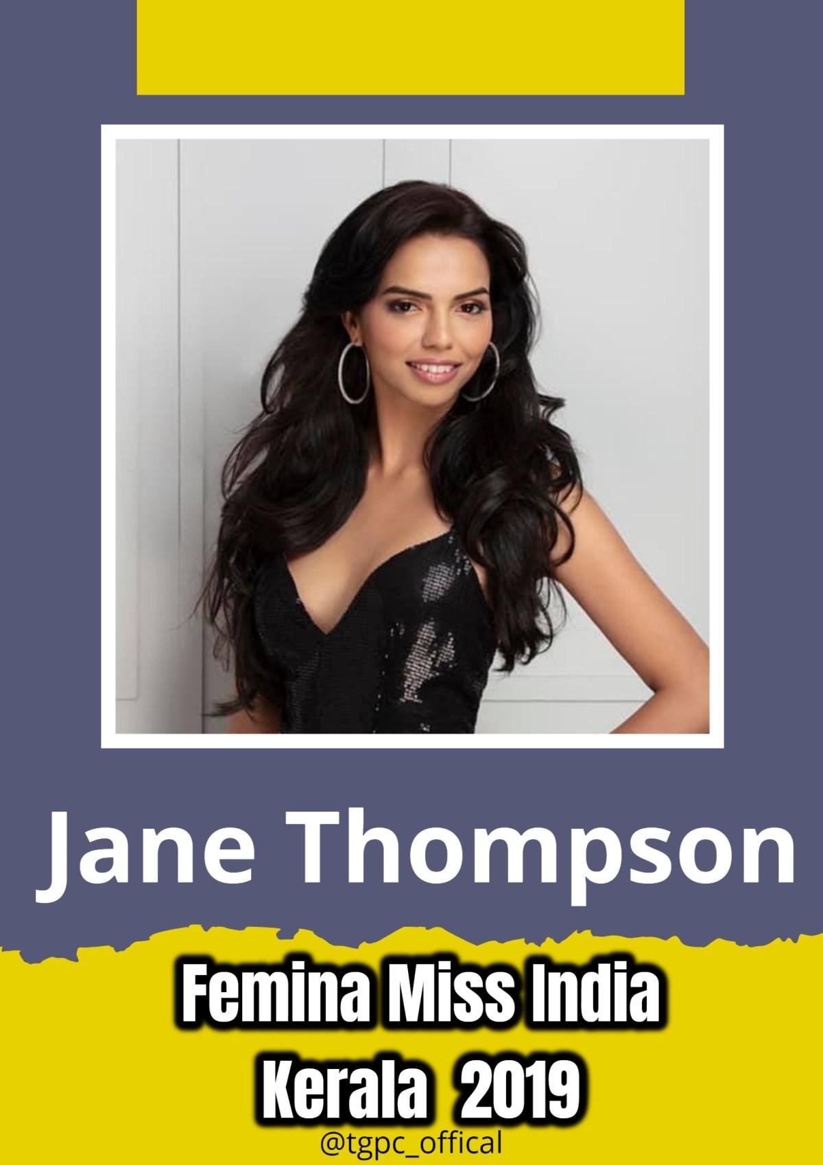 Jane Thompson will represent Kerala at Femina Miss India 2019