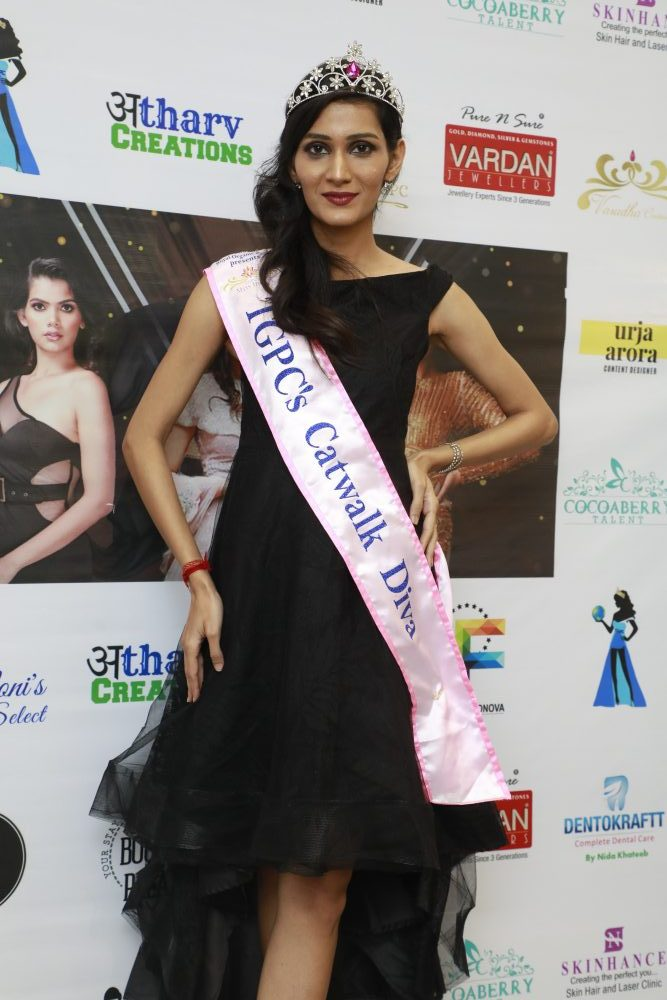 Divya Choudhary from Pune crowned as TGPC's Catwalk Diva Edition-2 Winner