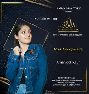 Miss Congeniality Amanjet Kaur