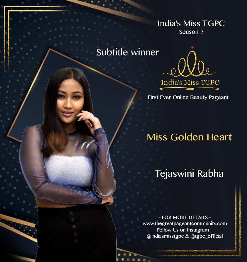 Miss Golden Heart Tejaswini Rabha