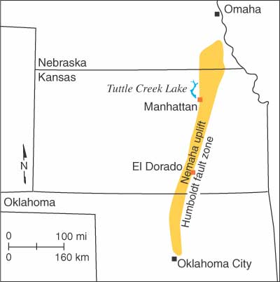 Oklahoma earthquakes fault zone