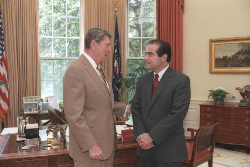 President Ronald Reagan confirm with Supreme Court Justice Antonin Scalia on Conspiracy Theories about Death of Supreme Court Justice Antonin Scalia