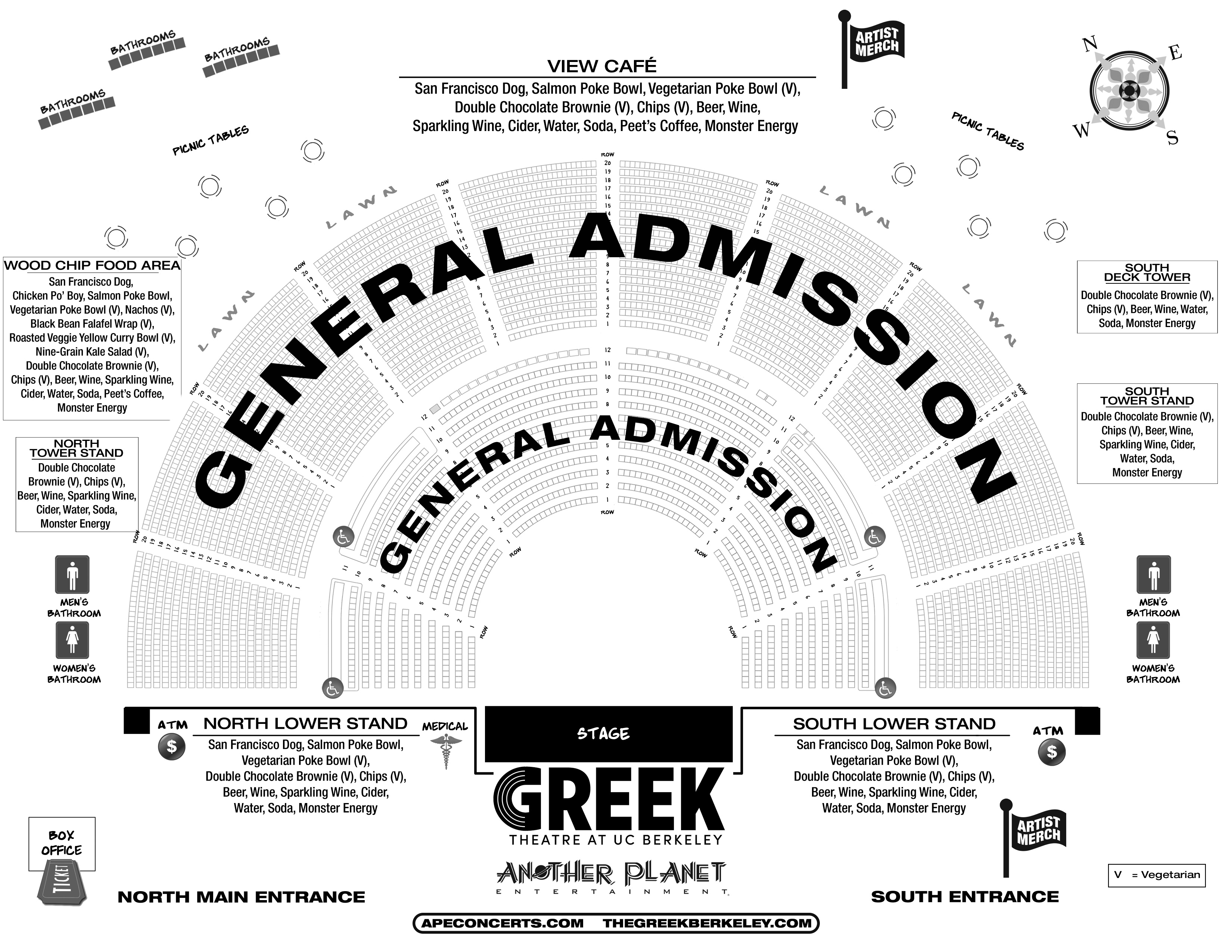 Greek Theatre Seating Chart With Seat Numbers