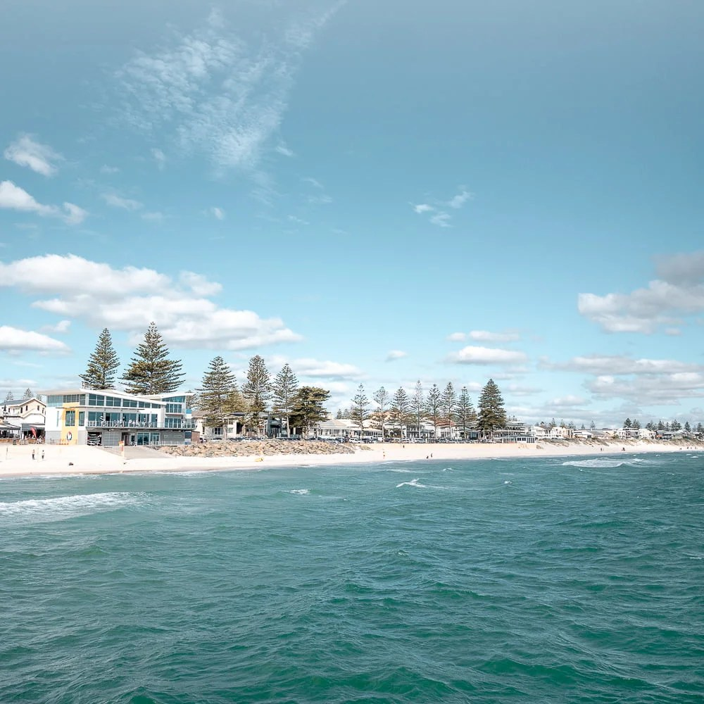 Henley Beach Foreshore View From Jetty