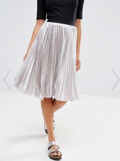 jupe métalisée, jupe femme, jupe midi, Inspirations jupes de marque et tendances
