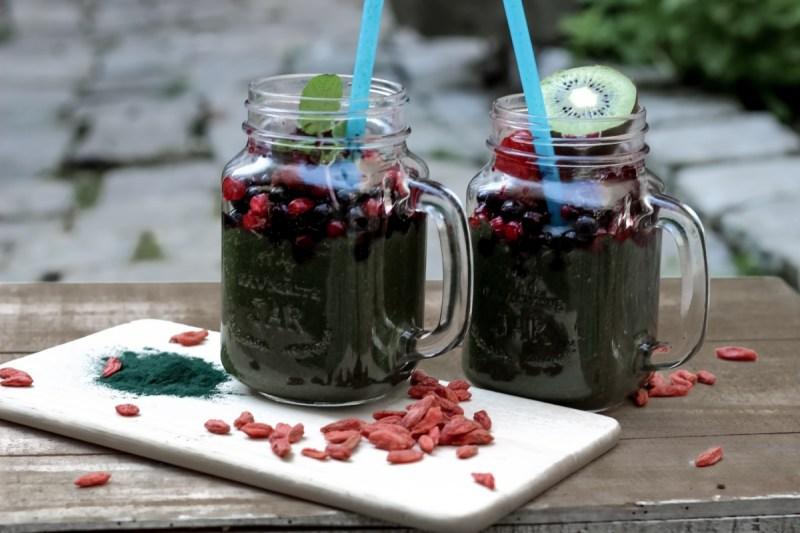 smoothie, spiruline, baies de goji, bio, the green ananas, blog bio