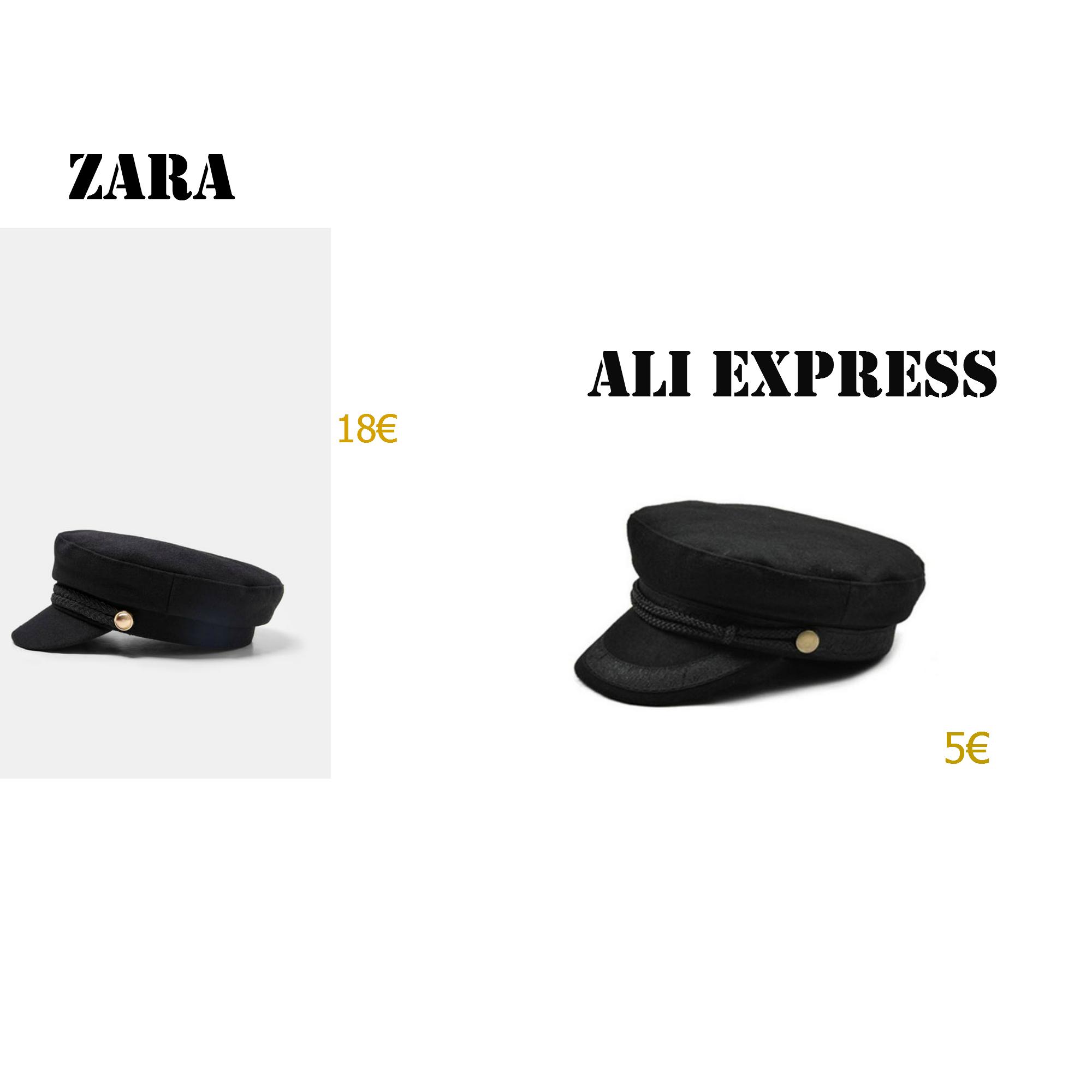 casquette marin, zara, ali express