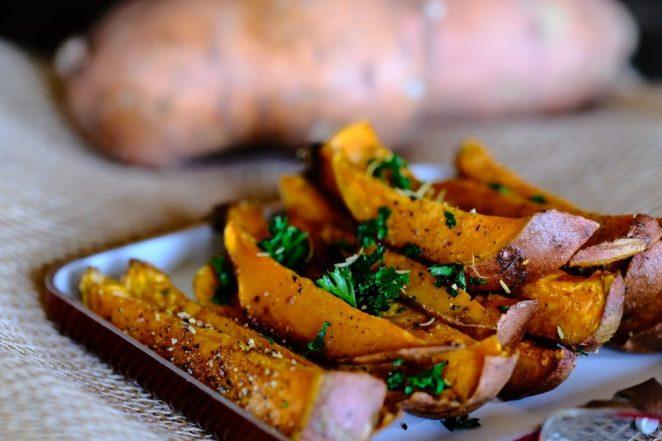 Sweet potatoe planting and dish