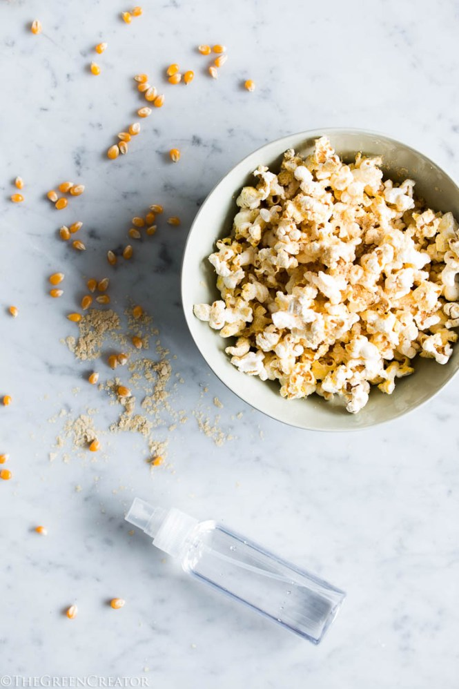 Big Pieces Of Healthy Air Popped Popcorn Made On The Stove