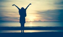 woman at sunrise, new beginnings