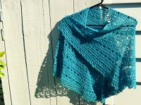 Crochet shawl with bead edge  The Green Dragonfly