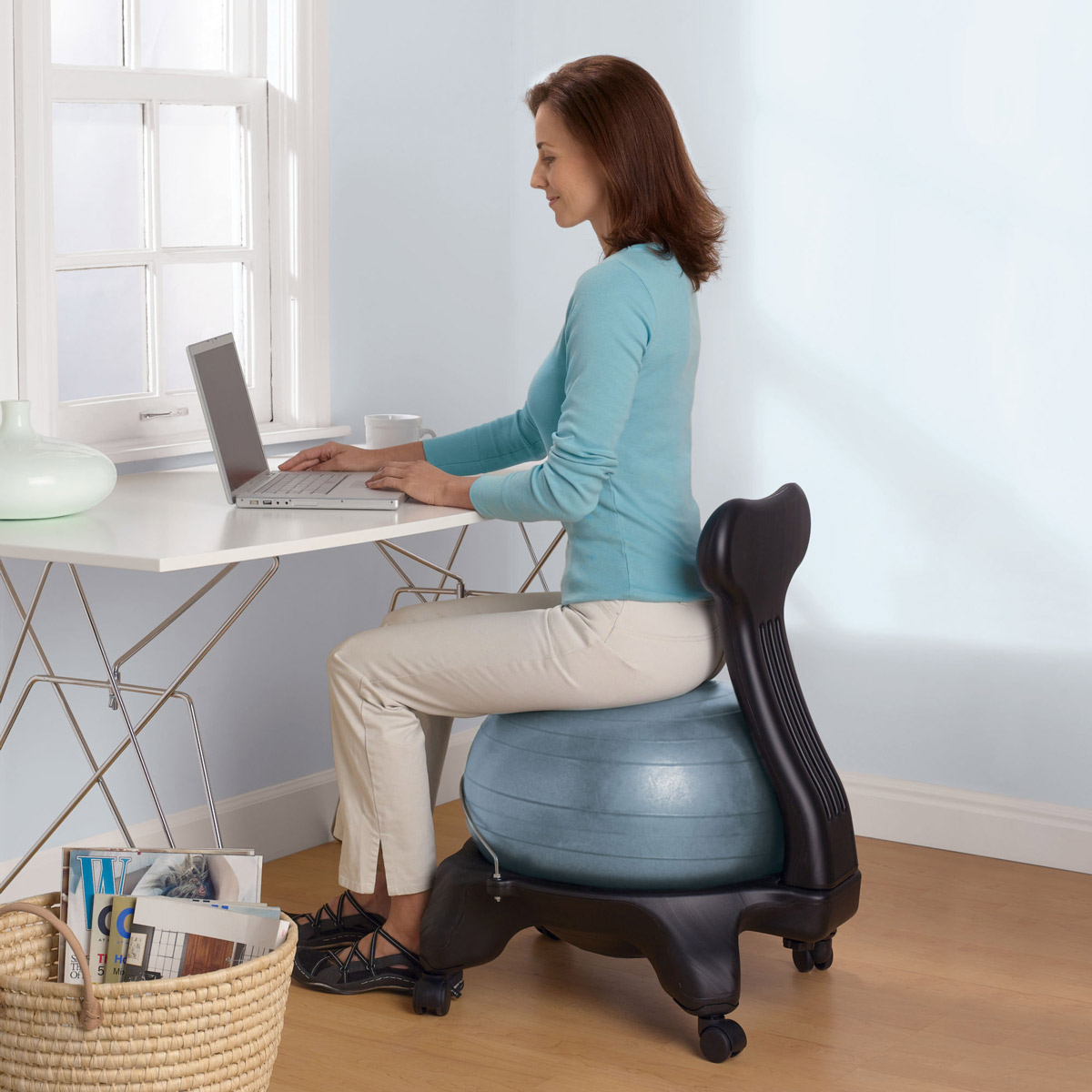 Pilates Ball Chair Balance Ball Chair Thegreenhead
