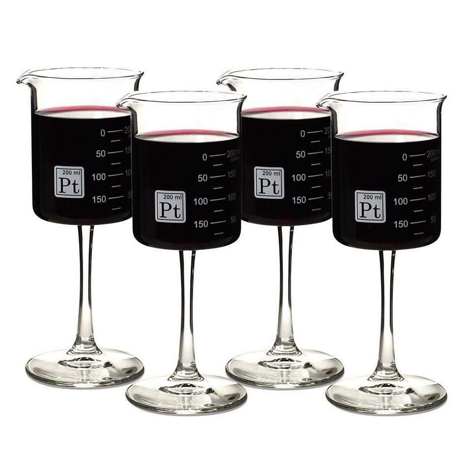 Cool Knife Block Laboratory Beaker Wine Glasses