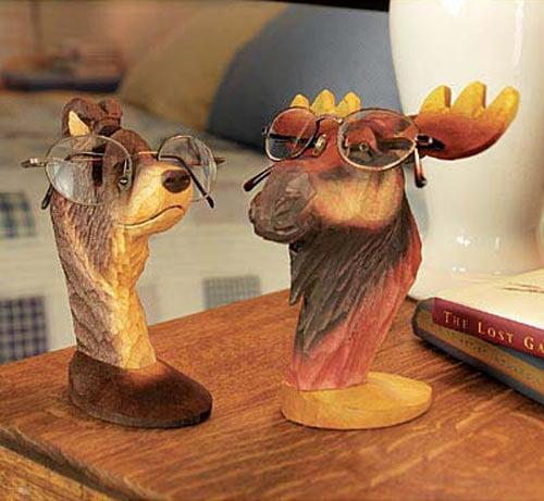 Peepers  Wooden Animal Eyeglass Holders  The Green Head