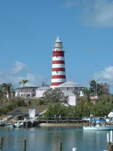 The famous lighthouse at Hope Town, Elbow Cay